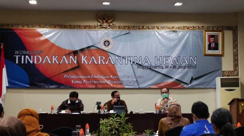 BBUSKP Paparkan Pengembangan Pengujian Covid-19 pada Workshop Tindakan Karantina Hewan di Yogyakarta